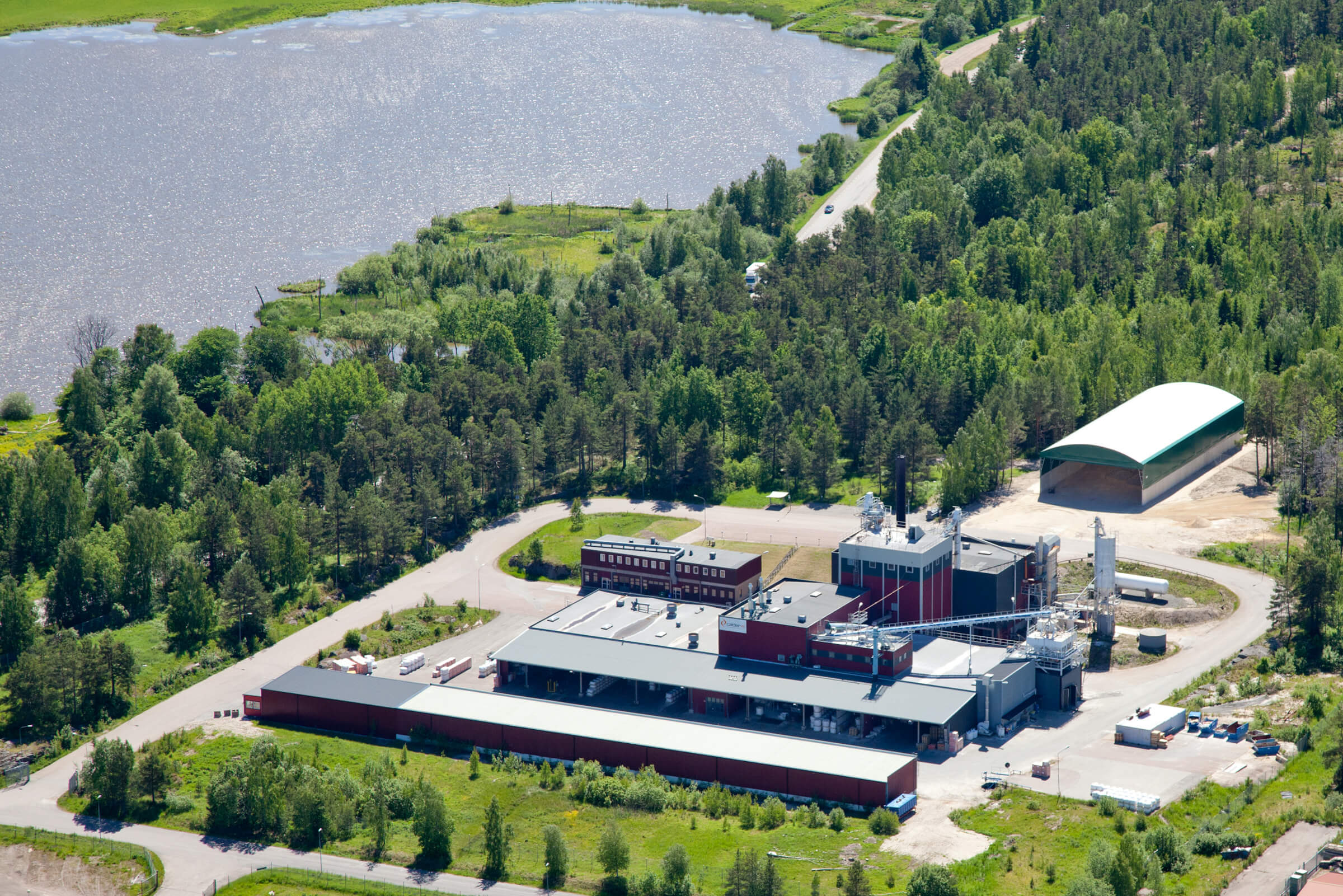 Calderys Refractory Plant in Amal Sweden - Aerial view