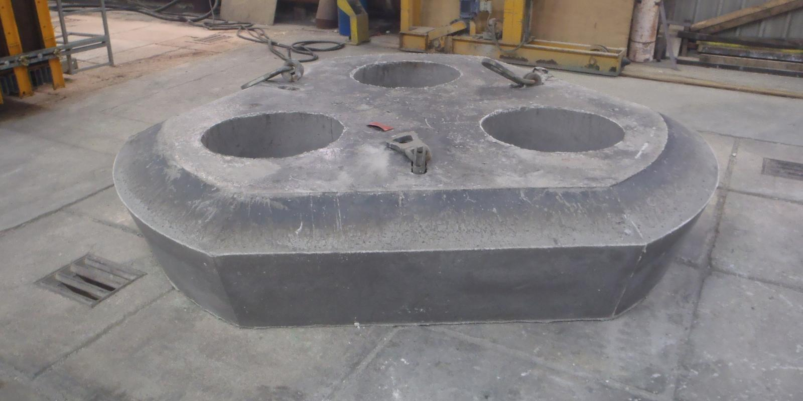 Precast Delta Roof for EAF - Steel example
