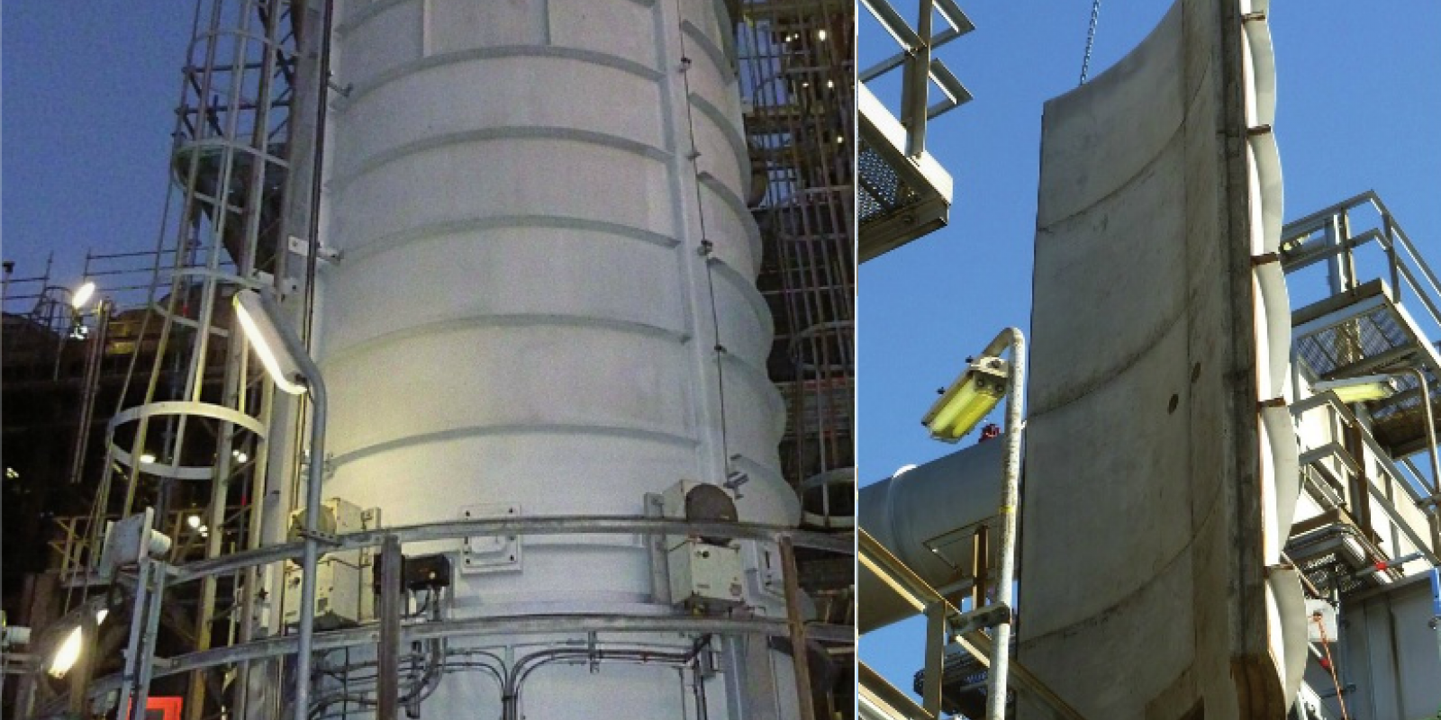 Calderys project services - Furnace and panel at Dutch Oil Refinery