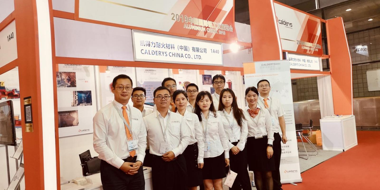 Calderys team at the Aluminium China Show 2019