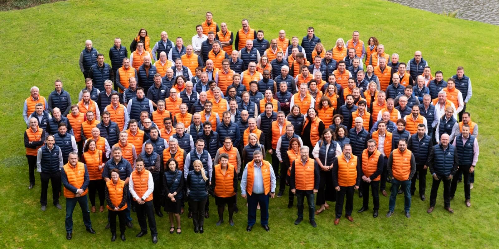 The EMEA teams gathered for the group picture