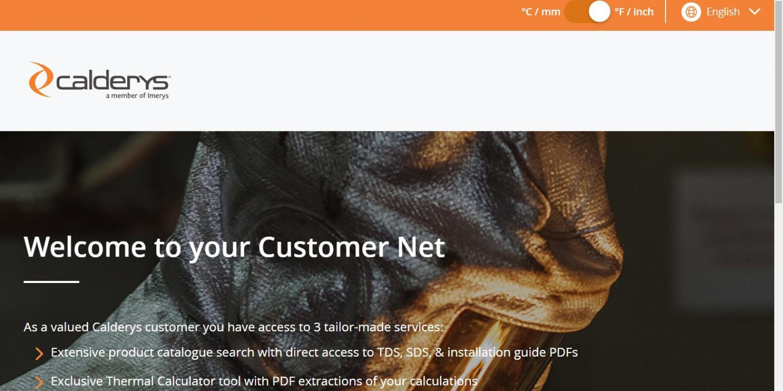 Calderys Customer Net launches US version