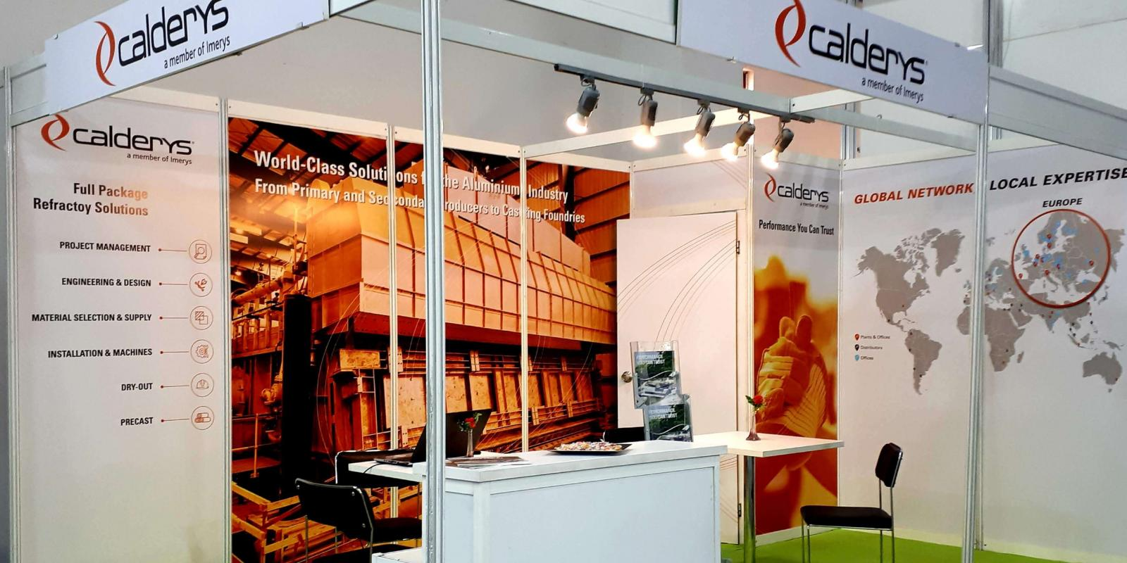 Booth at AluExpo showing Aluminium refractory solutions