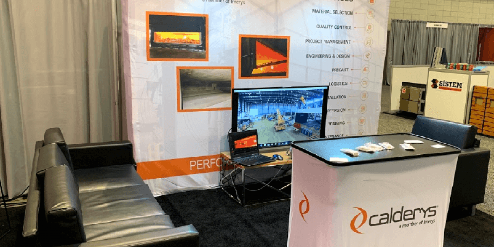 Calderys booth at Aluminum USA 2019 Trade Show