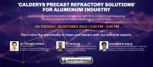 Calderys India holding live webinar on Aluminium refractory ready-shapes in October 2019
